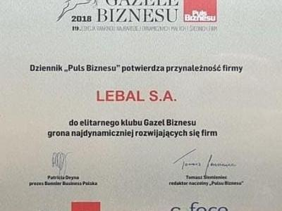 gazele certyfikat